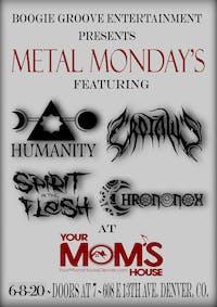 Metal Mondays ft. Humanity w/ Spirit in the Flesh | Crotalus | Chrononox