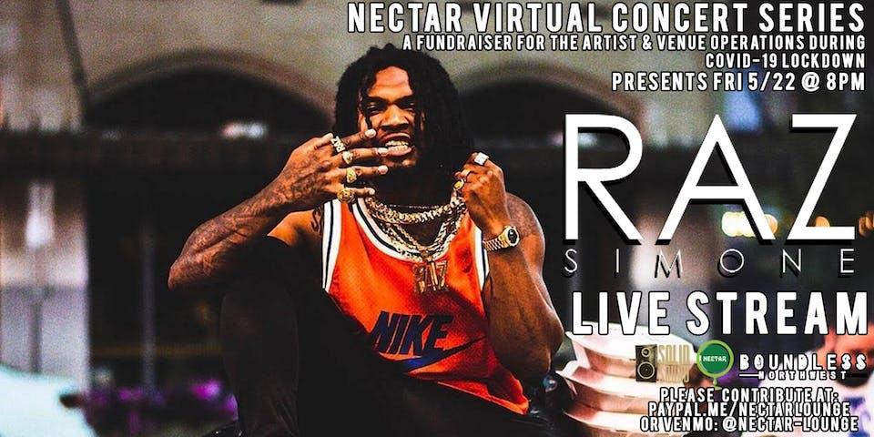Nectar Virtual Concert Series presents RAZ SIMONE