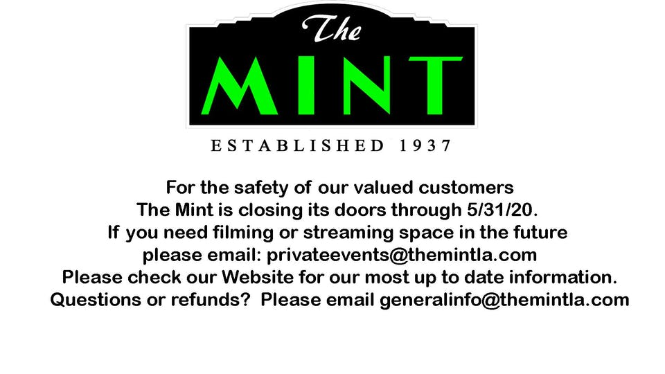 The Mint Will be Closed through  5/31
