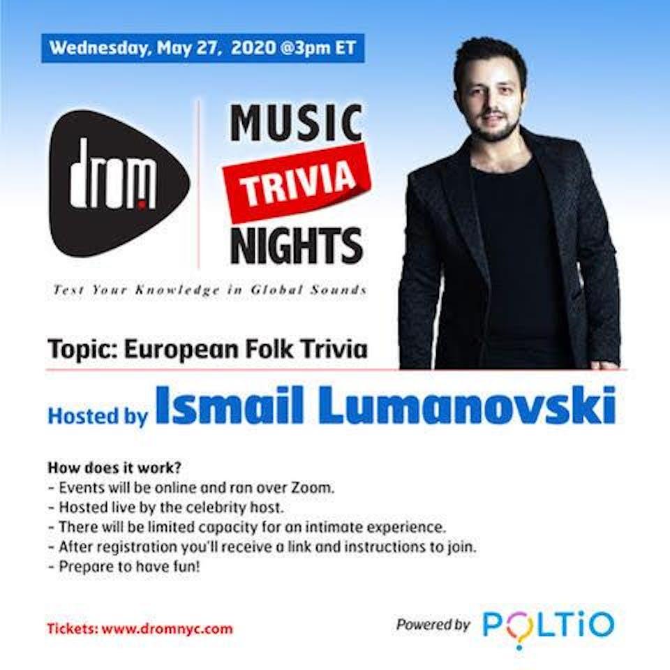(Online) DROM MUSIC TRIVIA: European Folk Trivia by Ismail Lumanovski