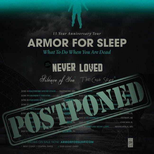 ARMOR FOR SLEEP / NEVER LOVED / SILENCE OF YOU