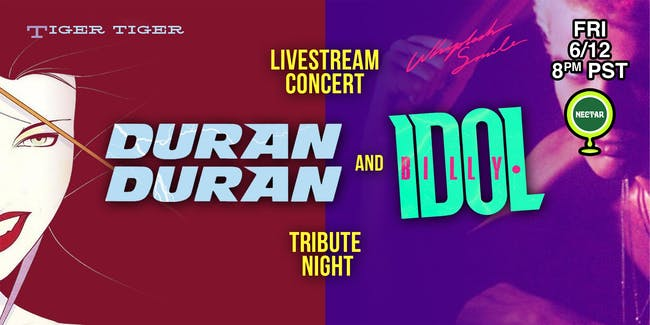 NVCS live stream: Tiger Tiger (Duran Duran) + Whiplash Smile (Billy Idol)