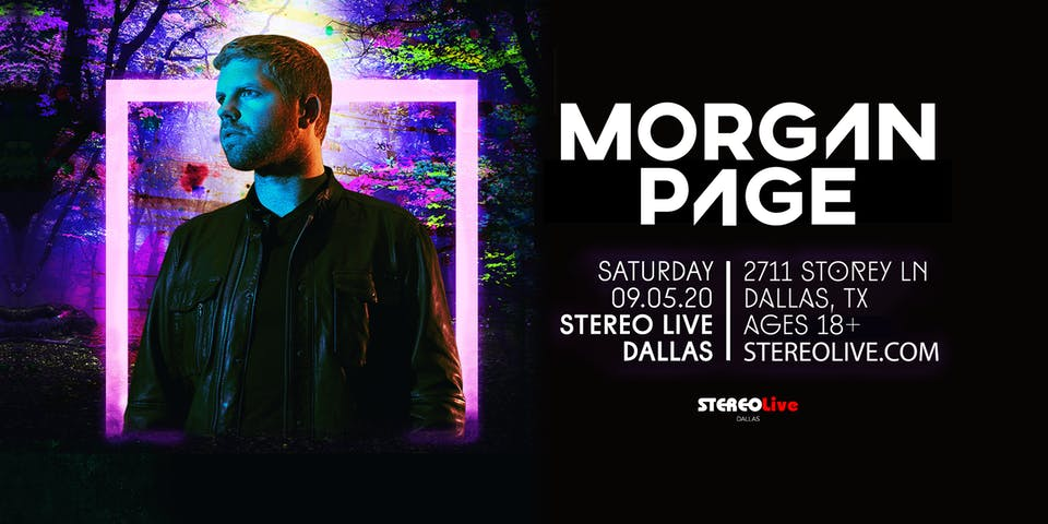 Postponed, New Date TBD - Morgan Page - Stereo Live Dallas