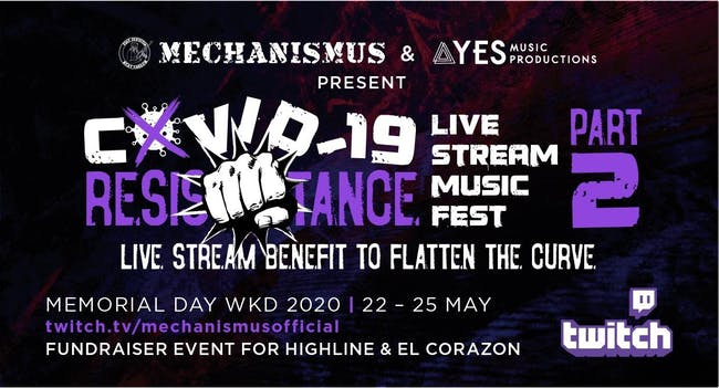 COVID-19 Resistance Live Stream Music Fest: Part 2 – DAY 2