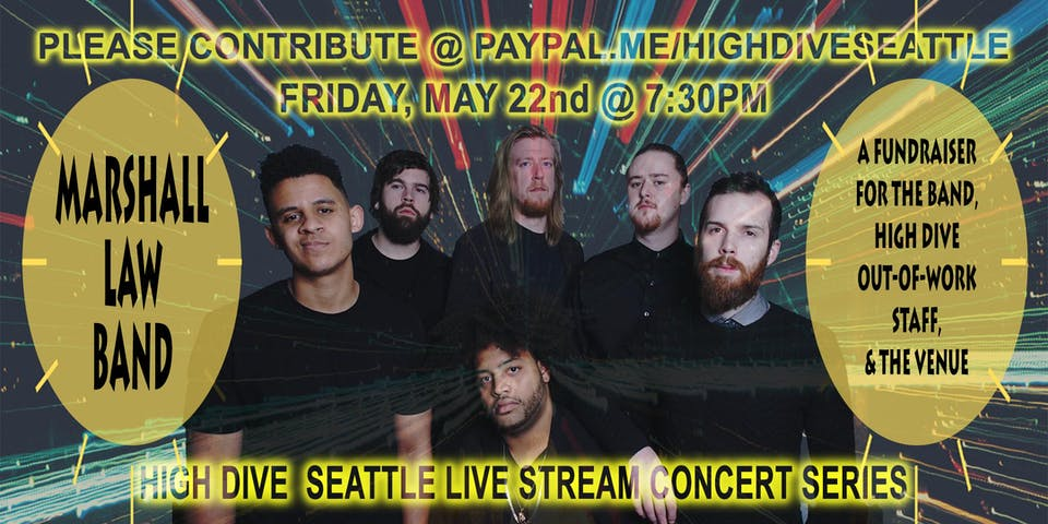 High Dive Live Stream Concert Series Presents:  MARSHALL LAW BAND