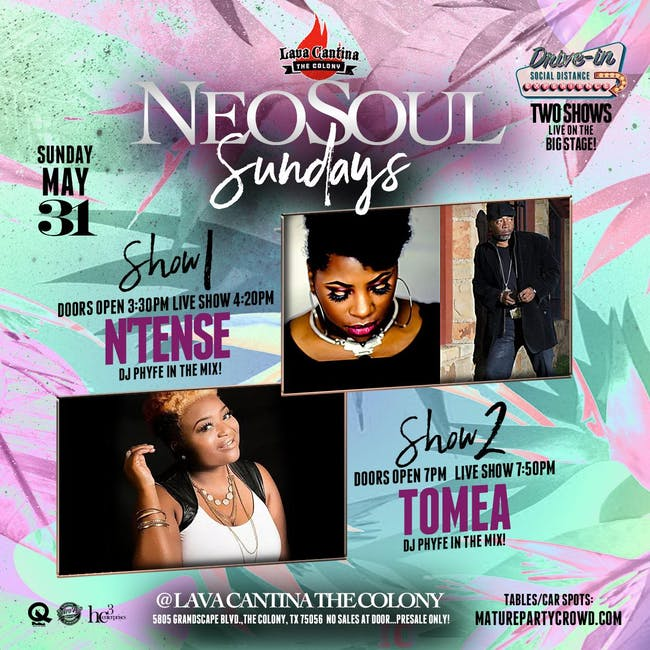 [LIVE STREAM & DRIVE IN!] NEO SOUL SUNDAYS! 1st Show w/ N'TENSE