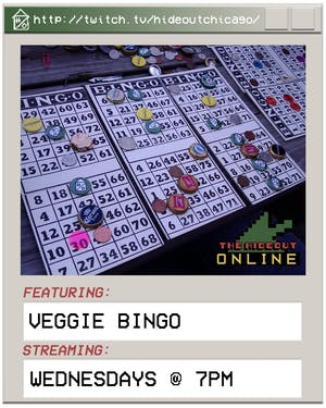 Virtual Veggie Bingo @ 5PM