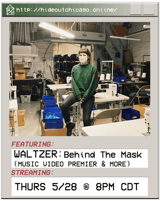 WALTZER: Behind The Mask (Music Video Premiere & More) @ 8PM