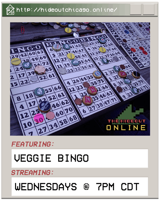 Virtual Veggie Bingo @ 5PM