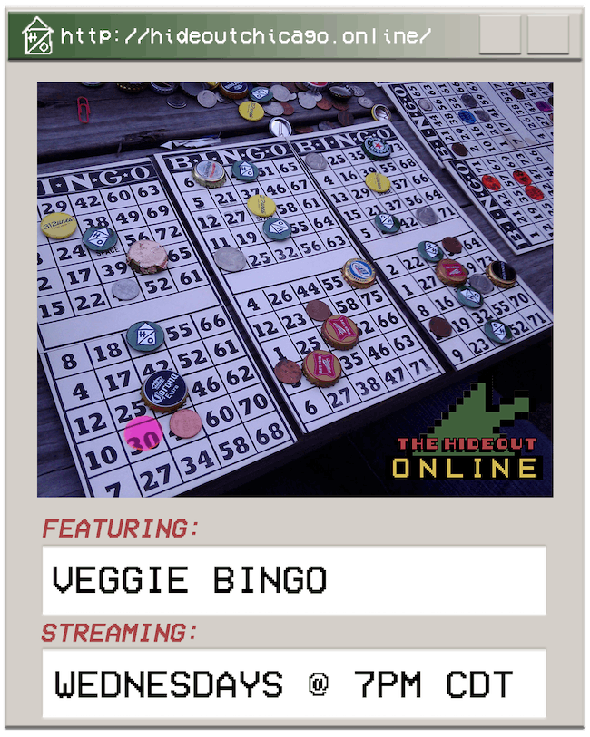Virtual Veggie Bingo @ 7PM