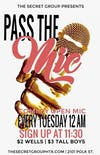 PASS THE MIC: Comedy Open Mic