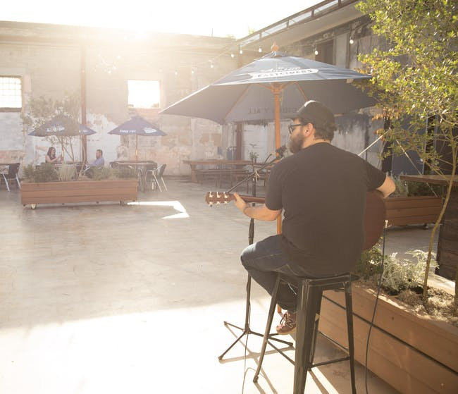 Jacob Furr in The Post Courtyard Every Thursday