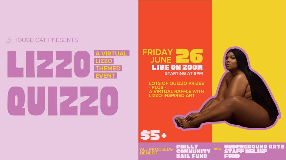 House Cat presents...  Lizzo Quizzo: A Virtual Lizzo-Themed Event