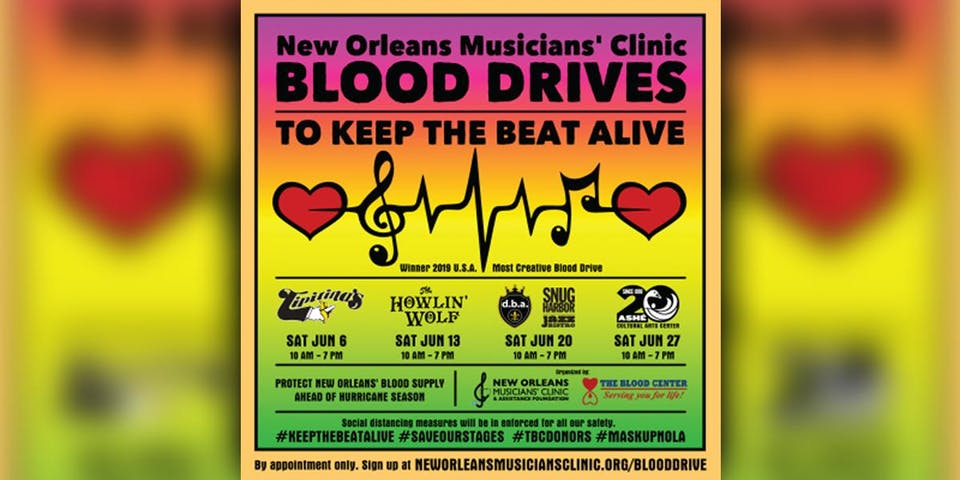 New Orleans Musicians' Clinic Blood Drive