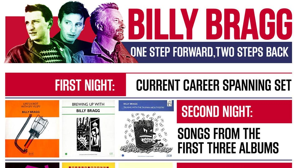 Billy Bragg - One Step Forward, Two Steps Back Tour