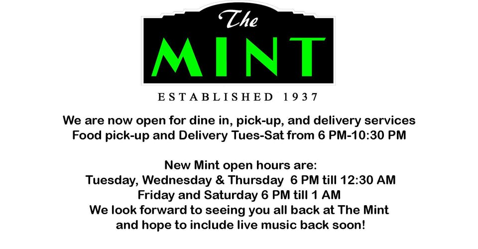 We are open for Takeout, Delivery, and Dine-In