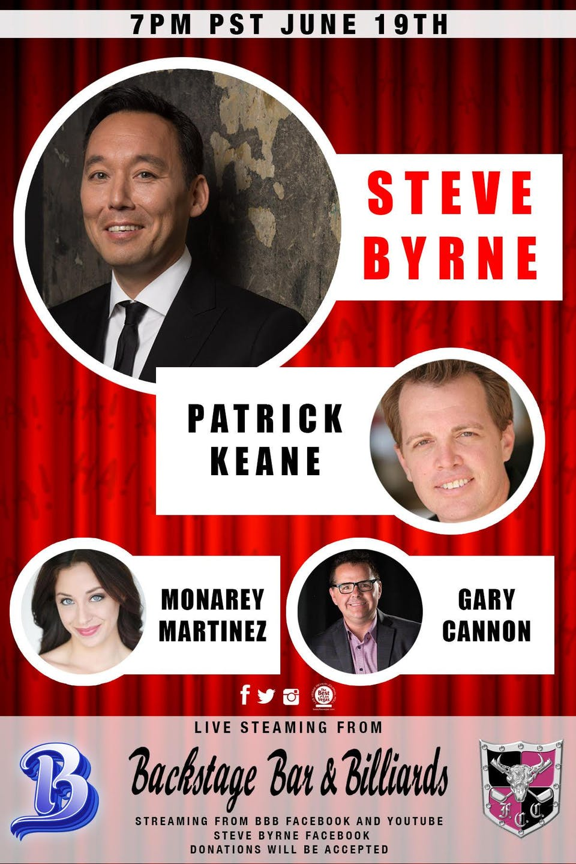 Steve Byrne Live Stream From Backstage Bar and Billiards