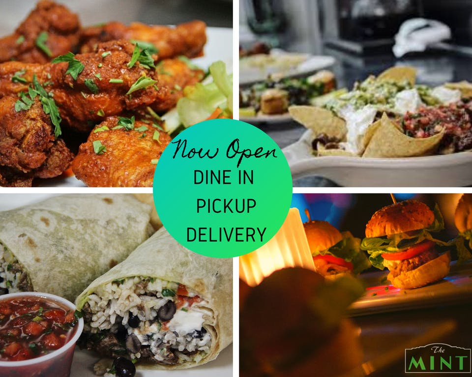 Open for Dine-In, Take-out, and Delivery