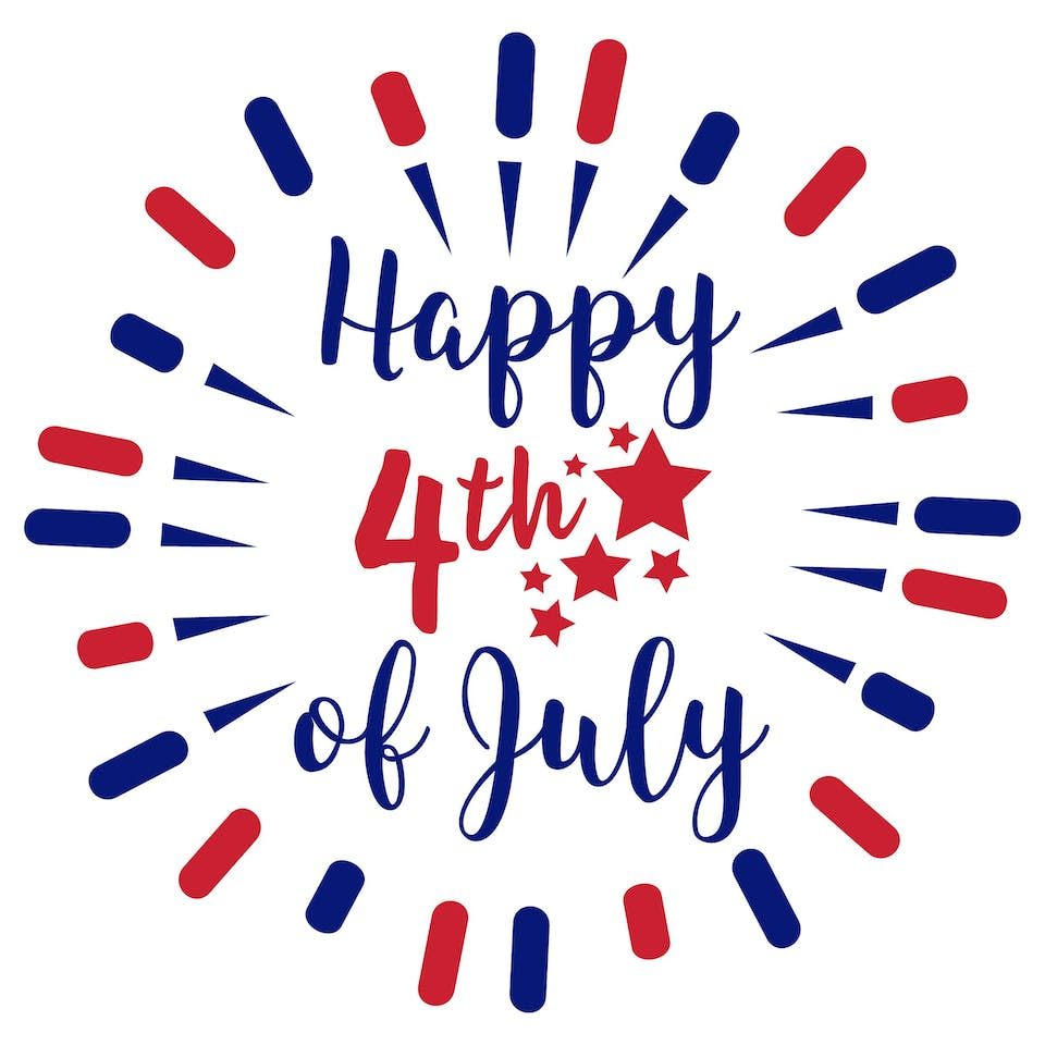 Happy 4th of July - we are closed