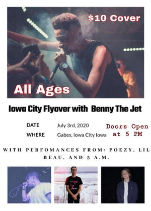POSTPONED: Iowa City Flyover with Benny The Jet