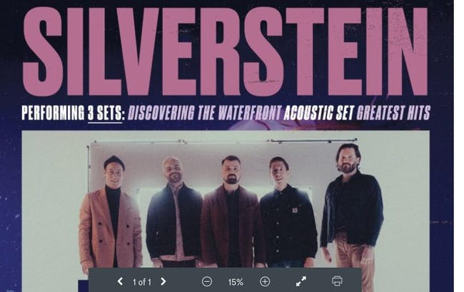 SILVERSTEIN - 20TH ANNIVERSARY TOUR