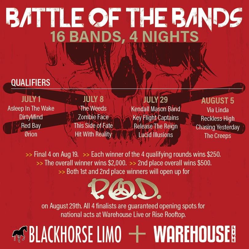 BATTLE OF THE BANDS:  VIA LINDA / RECKLESS HIGH /  CHASING YESTERDAY