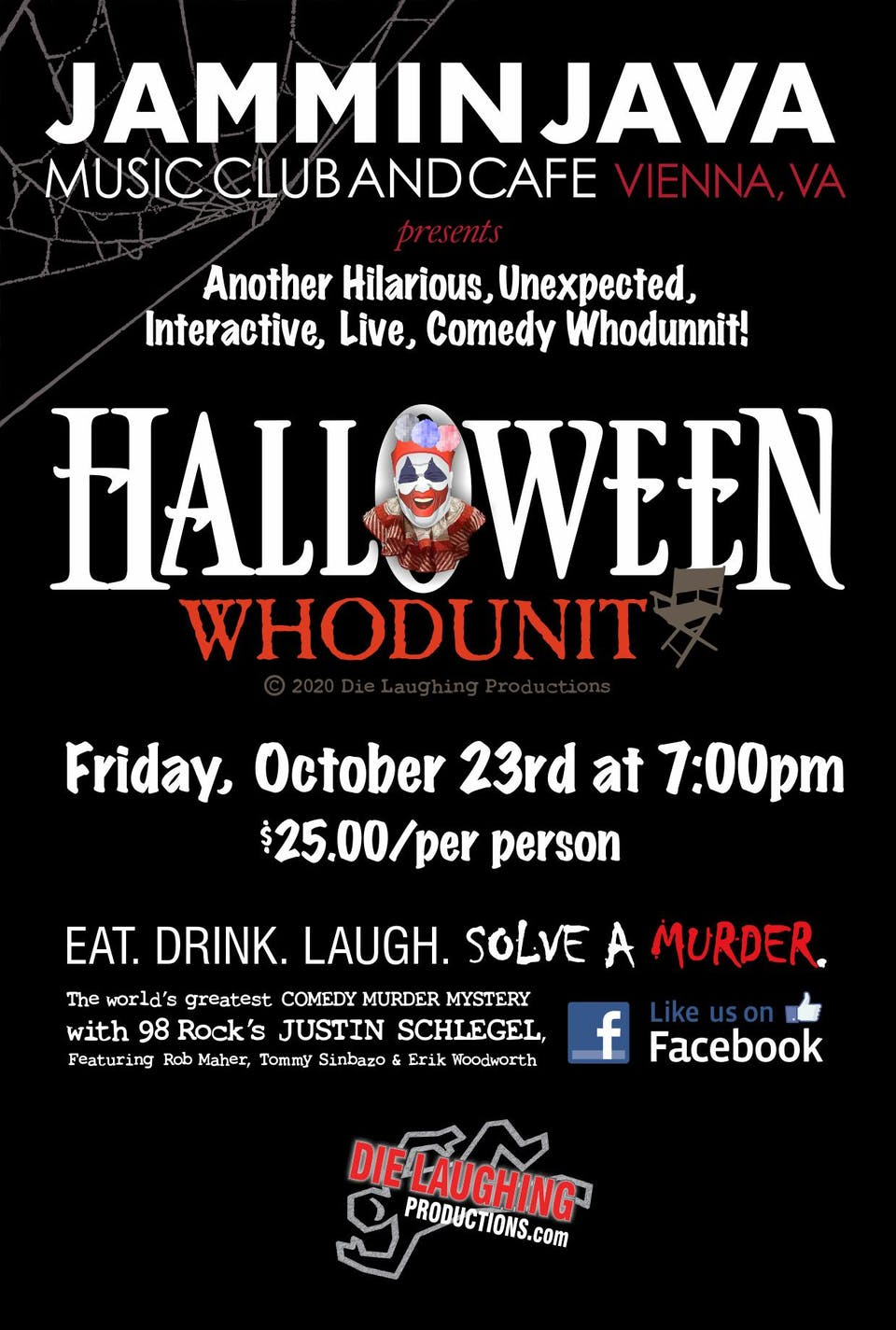 POSTPONED | Die Laughing Productions Presents Halloween Whodunit