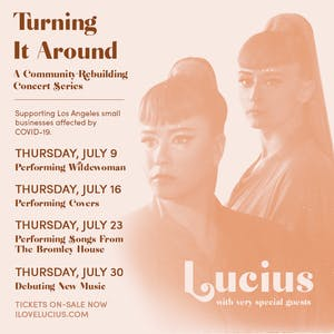 Lucius Live Stream: Performing Songs From The Bromley House