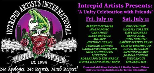 Intrepid Artists Virtual Music Festival Watch Party