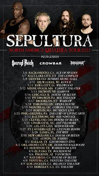 SEPULTURA - N. AMERICAN TOUR w/ SACRED REICH