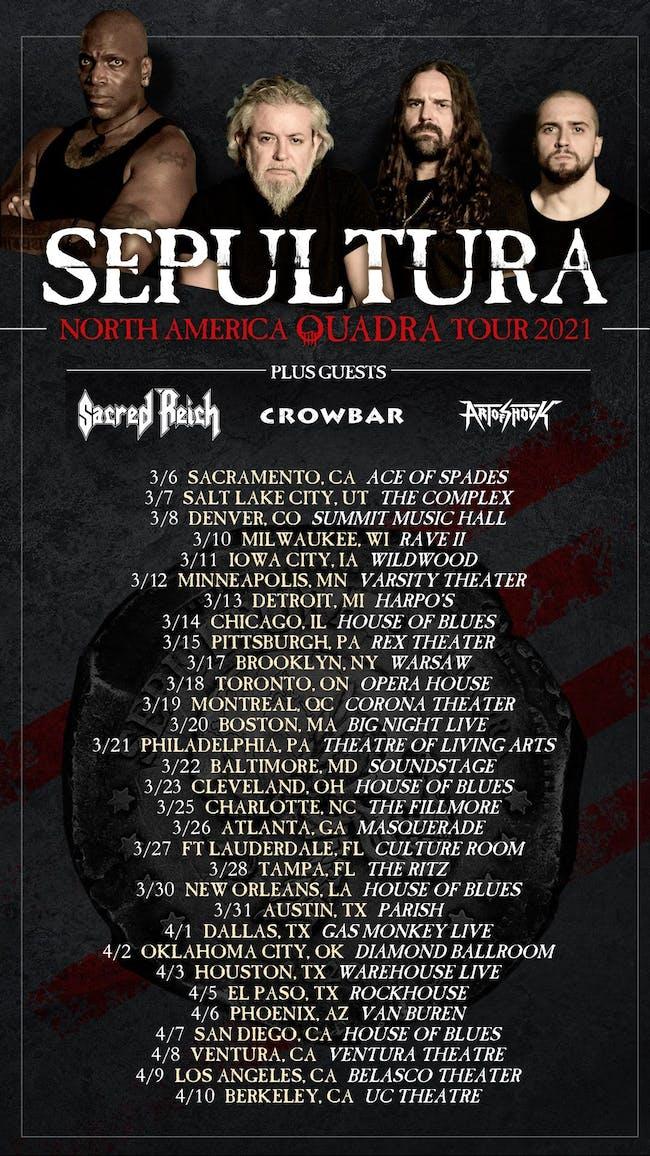 SEPULTURA - N. AMERICAN TOUR