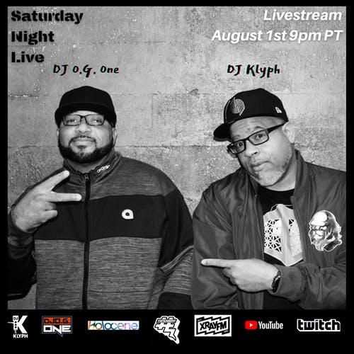 DJs O.G. One & Klyph: Saturday Night Live (Livestream)