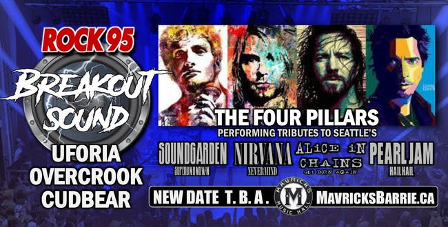 ROCK 95 BREAKOUT SOUND: Cudbear, Uforia & Overcrook + THE FOUR PILLARS