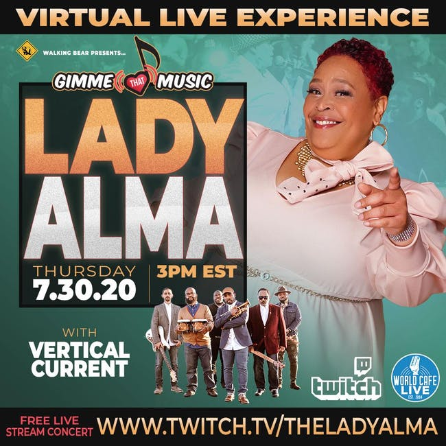 FREE LIVE STREAM with Lady Alma
