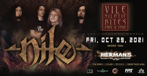 NILE - New Date Oct 29, 2021 - (tickets will still be honored)