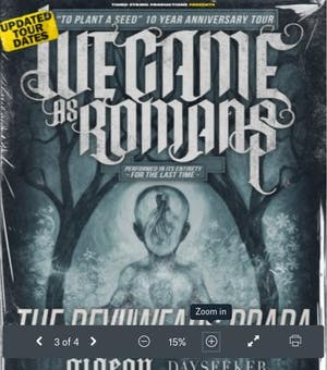 CANCELLED: WE CAME AS ROMANS