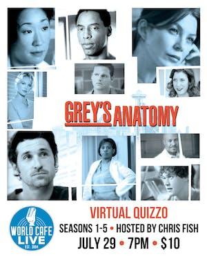 VIRTUAL Grey's Anatomy Quizzo (Seasons 1-5)