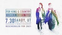 for KING & COUNTRY | A Summer Tour
