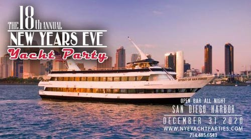 New Year's Eve Yacht Party - San Diego