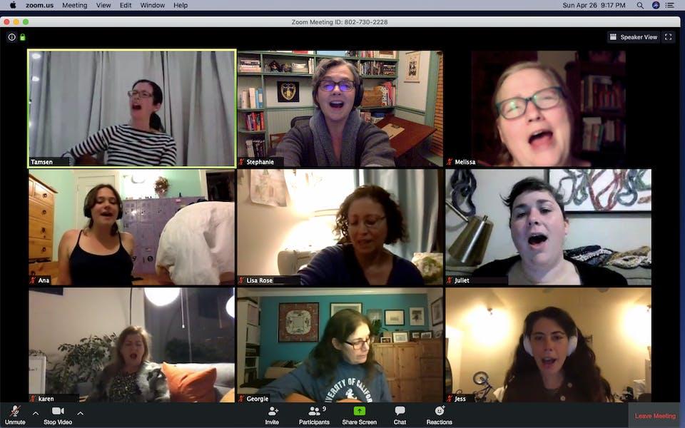 Women's Singing Circle ONLINE (WEDNESDAYS) w/Tamsen Fynn