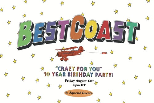 "Best Coast - ""Crazy For You"" 10 Year Birthday Party - LIVE STREAM"