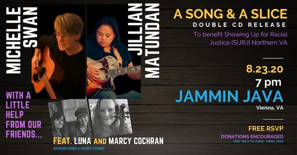 A Song & A Slice: Michelle Swan & Jillian Matundan Benefiting SURJ (FREE!)