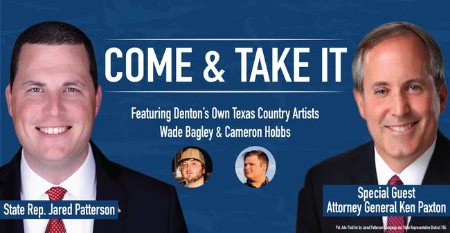 COME & TAKE IT 2020 with Representative Jared Patterson