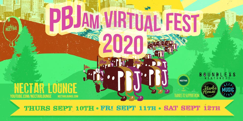 PBJam VIRTUAL FEST 2020! You can still support @ www.paypal.me/nectarlounge