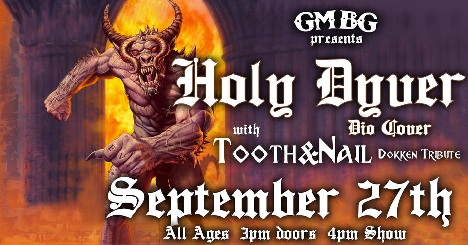 Sunday FUNday BBQ Series Ft. Holy Dyver (Dio), Tooth & Nail (Dokken)