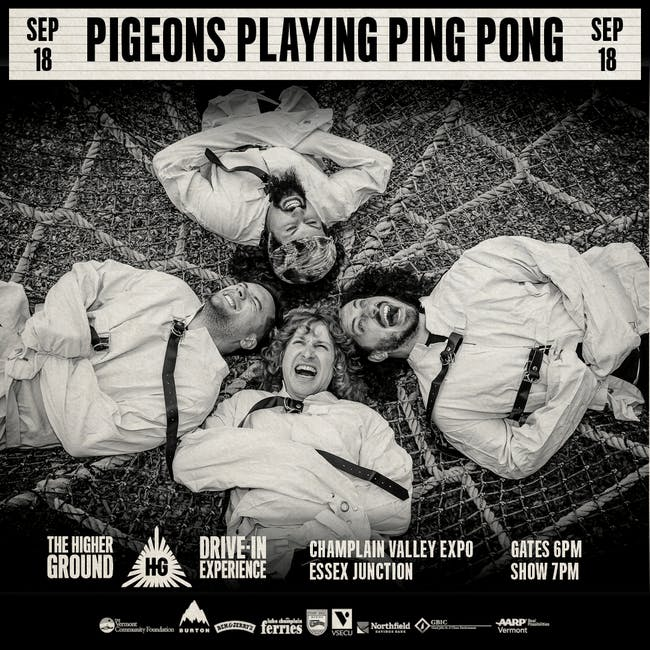 Pigeons Playing Ping Pong at the Drive-In