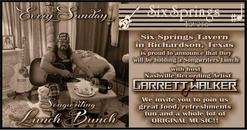 Songwriters Brunch with Garrett Walker and Friends