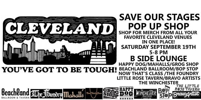 Save Our Stages Pop Up Shop