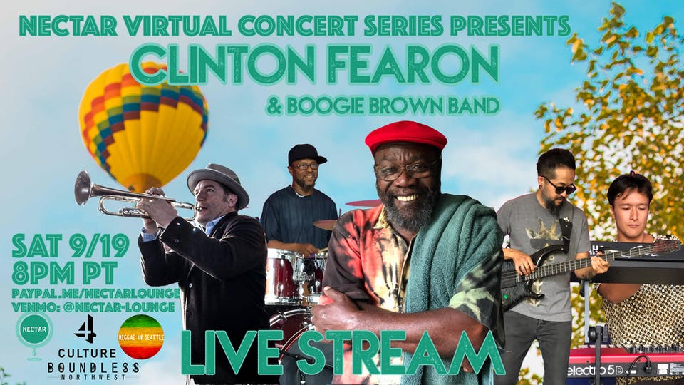 CLINTON FEARON & The Boogie Brown Band - LIVE STREAM CONCERT