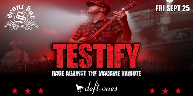 TESTIFY-a tribute to Rage Against the Machine & Deft-Ones- Deftones tribute